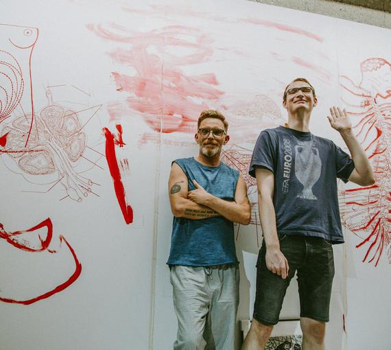 Ausstellung im Aktionsraum LINkZ von Künstler*innen der Kunstwerkstätte.
